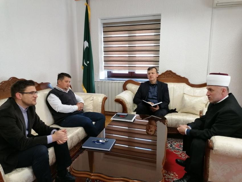 Muftija Kudić razgovarao sa glavnim imamom i predsjednikom Medžlisa IZ Prijedor