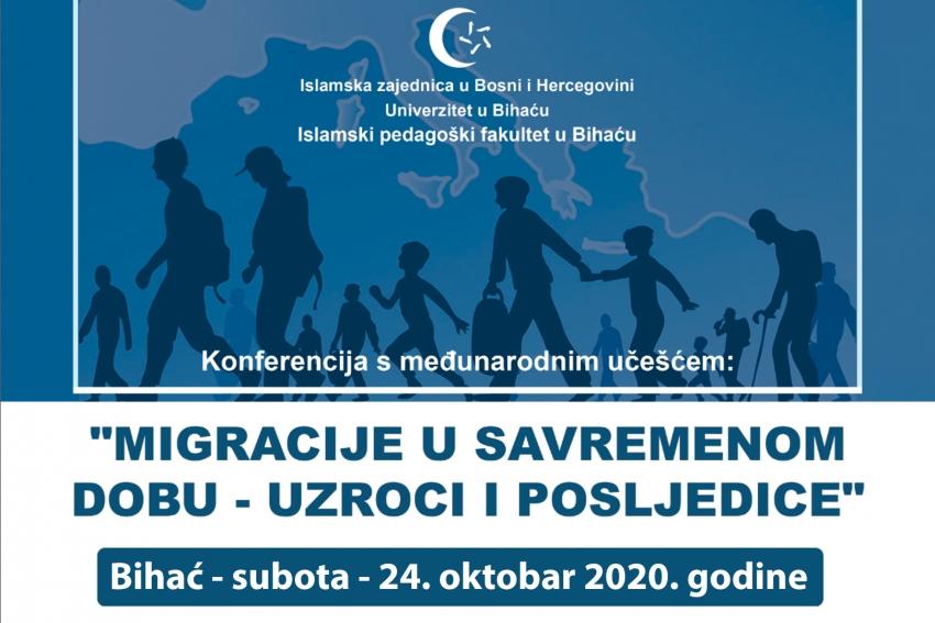 Islamski pedagoški fakultet u Bihaću organizira naučnu konferenciju o migracijama