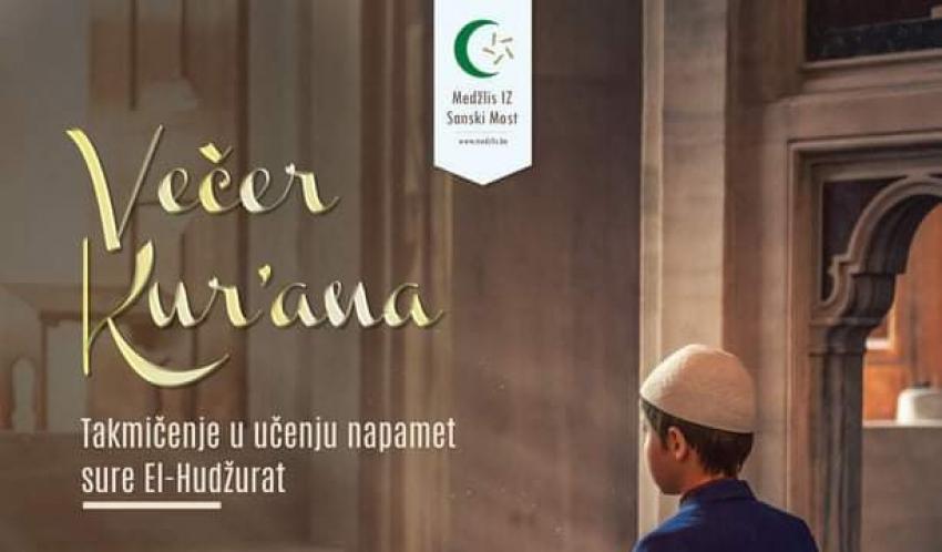 Medžlis IZ Sanski Most: Takmičenje djece i omladine u učenju sure Hudžurat