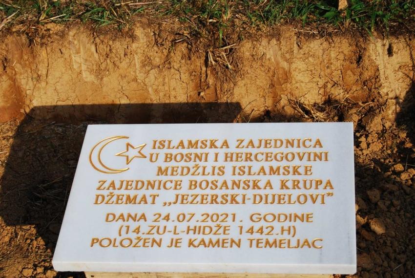 Položen kamen temeljac za izgradnju nove džamije u džematu Jezerski - Dijelovi